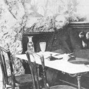 Paul Verlaine in the cafe Francois Premier