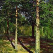 Pines, illuminated by the sun. Ivan Ivanovich Shishkin