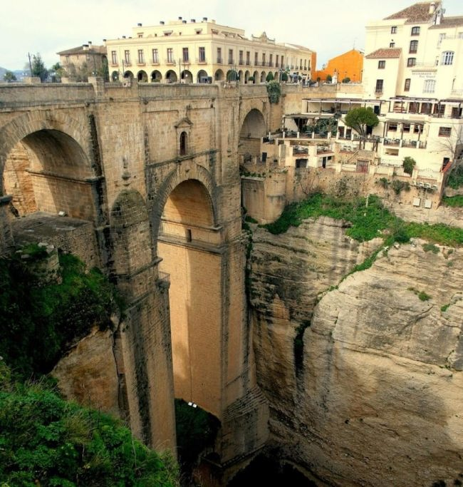 Puente Nuevo, Ronda, Spain. The construction of the bridge took 42 years, in 1751 it was completed