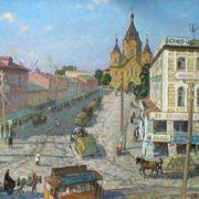 R. Sosnin. Alexander Nevsky Cathedral on Strelka