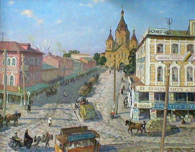 R. Sosnin. Alexander Nevsky Cathedral on Strelka