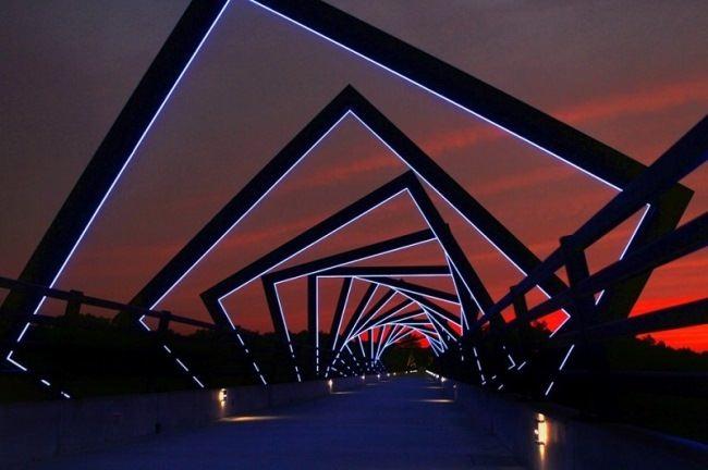 Railway bridge in Iowa, USA