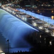 Rainbow bridge-fountain of Banpo, Seoul