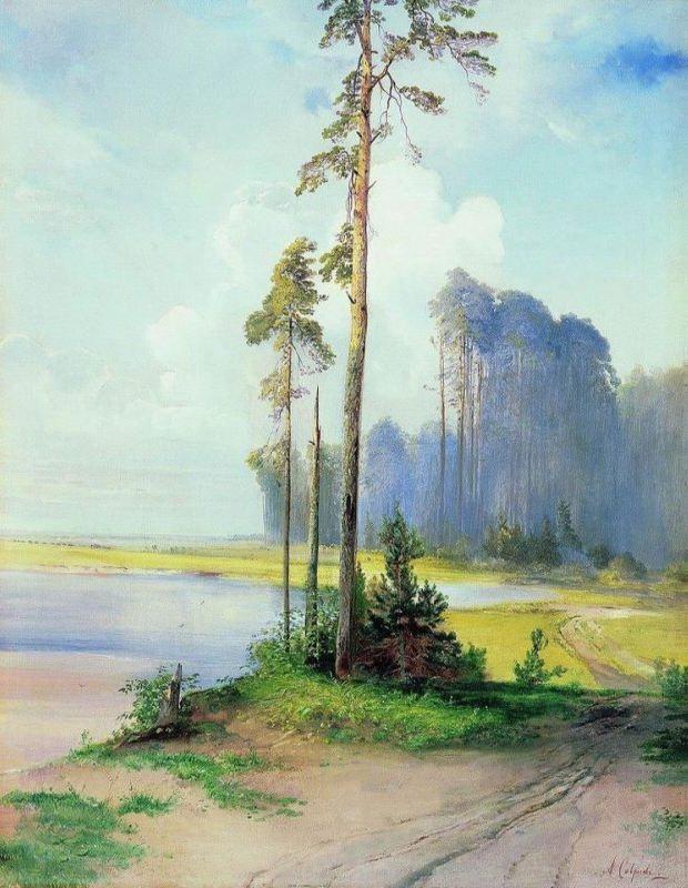 Summer landscape. Pines. Alexey Kondratievich Savrasov. 1880s
