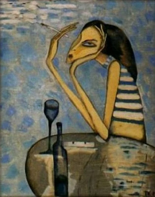 Tatyana Krivenko. Absinthe Drinker