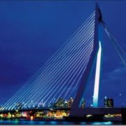 The Erasmus bridge in Rotterdam is the longest drawbridge in the world