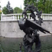 The Firebird Monument in Moscow, Russia