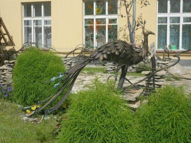 The Firebird Monument in Yekaterinburg, Russia