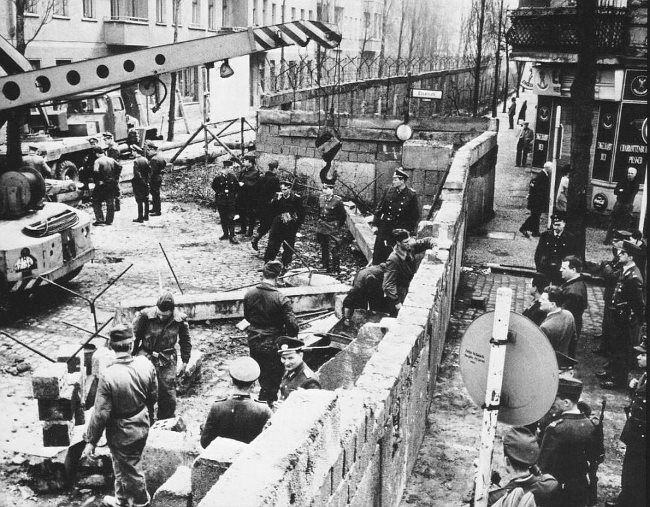 The beginning of the construction of the Berlin Wall