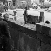 The construction of the wall in East Berlin, August 18, 1961