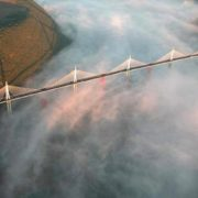 The highest bridge is the Millau viaduct in France, because its height is 343 meters