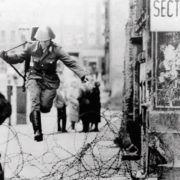 The leap from one world to another became one of the symbols of the cold war