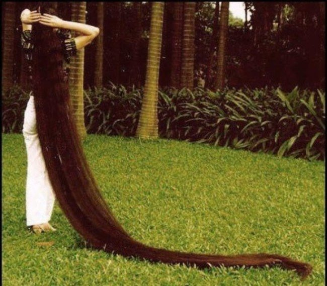 The longest hair