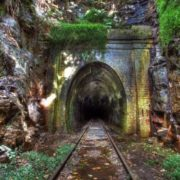 The railway tunnel of Helensburg, closed in 1915
