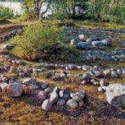 The stone labyrinth. The Solovetsky Islands