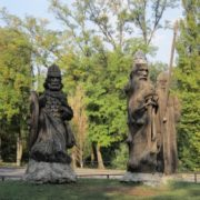 Three bogatyrs in Rostov-on-Don, Russia