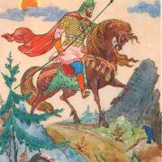 Three trips of Ilya Muromets. The artist G. Bureev (Palekh)