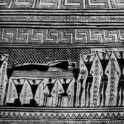 Tombstone. Detail of the amphora painting