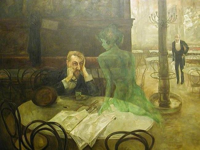 Victor Oliva. Drinking Absinthe, 1901