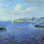 View of Nizhny Novgorod. The beginning of the 1890s. Isaac Ille