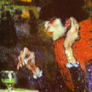 Woman Drinking Absinthe, 1901, Pablo Picasso