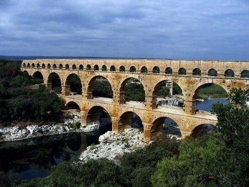 Wonderful bridges around the world. Pont du Gard, France