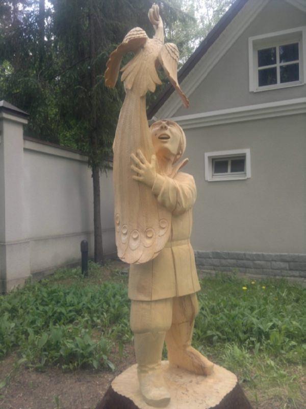 Wooden Ivan Tsarevich and Firebird
