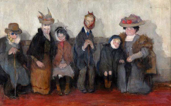 Abel Pann. Waiting for the dentist. 1910