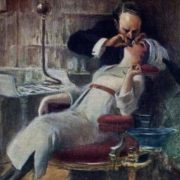 Albert Guillaume. At the dentist