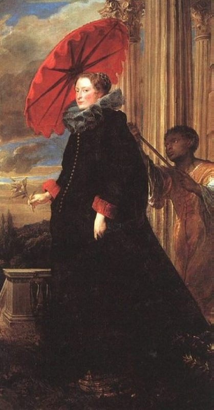 Anthony Van Dyck. Portrait of Helen Grimaldi. 1623