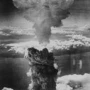 Atomic mushroom over Nagasaki, author unknown