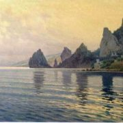 Baturin Viktor Pavlovich. Coast. The rocks of Semeiz, 1912