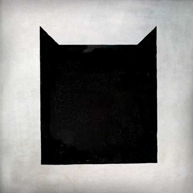 Black cat. Original - Kazimir Malevich, The Black Square