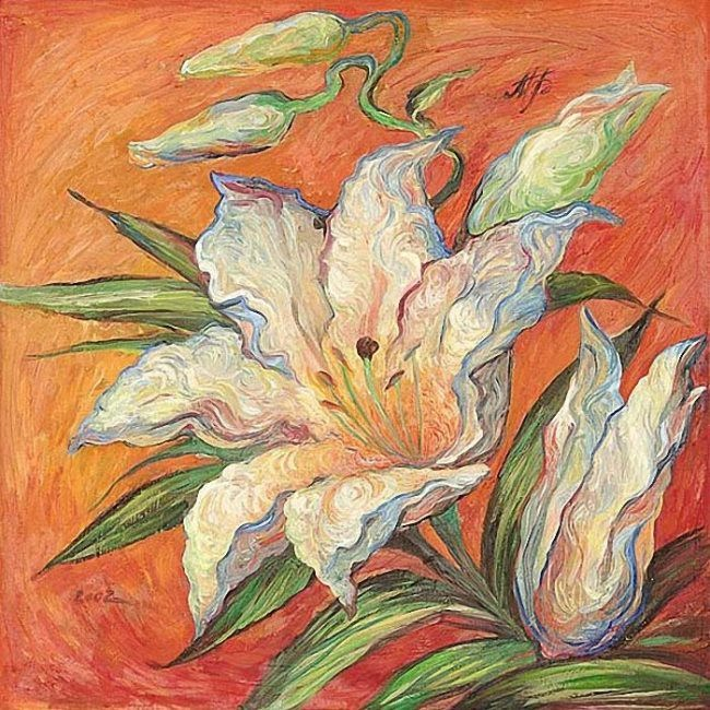 Bykova Marina. White Lily. 2002