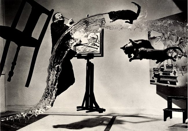 Dali and cats. Photographer Phillip Halsman had been friends with Dali for 30 years