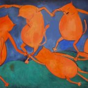 Dance of cats. Original - Henri Matisse, Dance