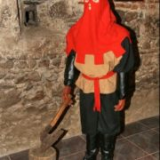Executioner wearing a mask. Dummy