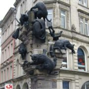 Germany. Braunschweig. Monument to the homeless cats