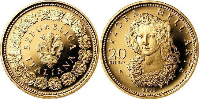 Gold Italian coin
