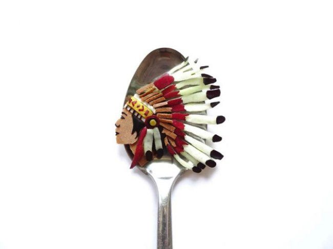 Indian on a spoon by Ioana Vanc