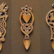 Interesting Celtic love spoons