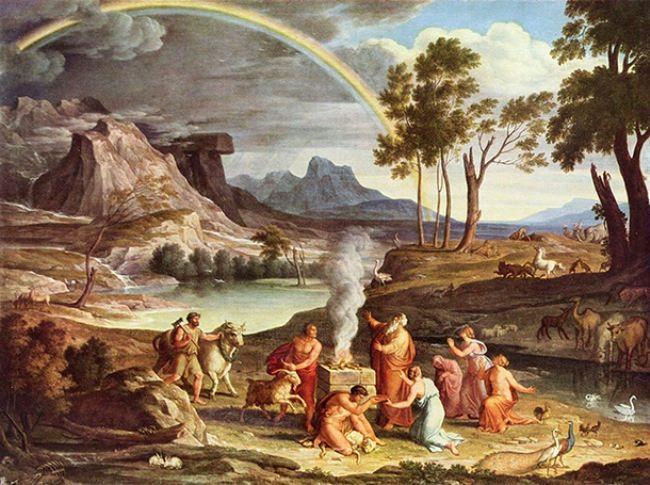Joseph Anton Koch. Landscape with the Sacrifice of Noah, 1803