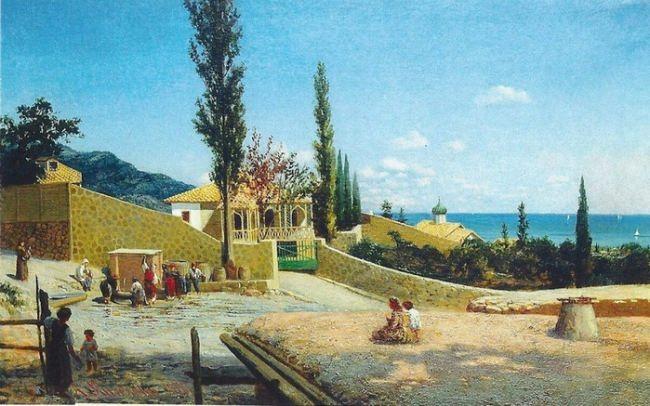 Kiselev Alexander Alexandrovich. Crimean landscape. View of Yalta. 1876