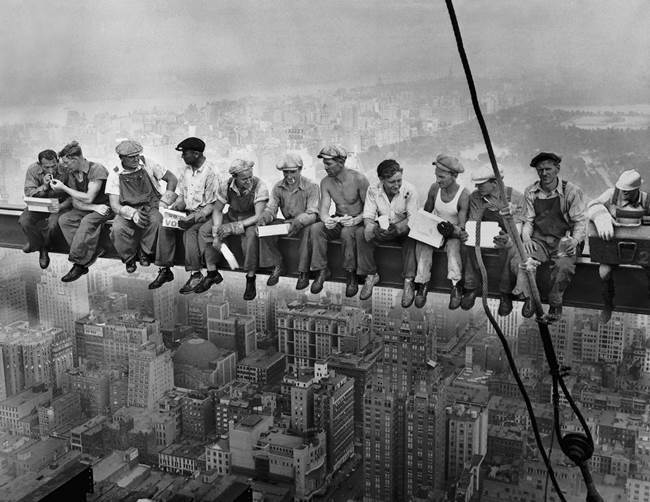 Legendary photo Lunch on a skyscraper