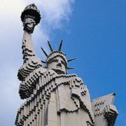Lego Statue of Liberty in Legoland in Billund, Denmark