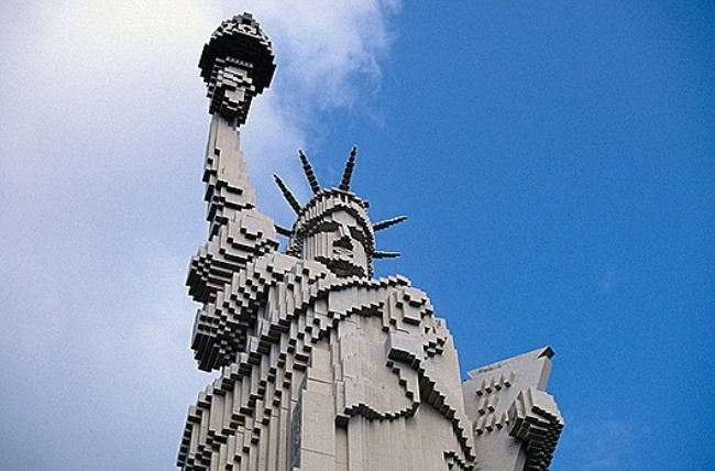 Lego Statue of Liberty in Legoland in Billund, Denmark