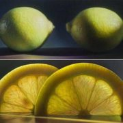 Lemons, oil painting by Dennis Voitkiewicz