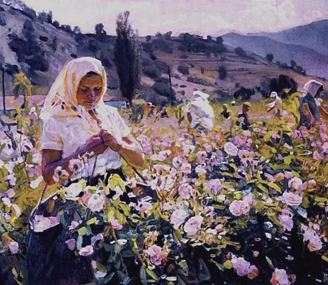 Melikhov Georgiy Stepanovich. Portrait of the brigadier of the Crimean essential oil farm Rose Valley Vera Repicheva, 1961