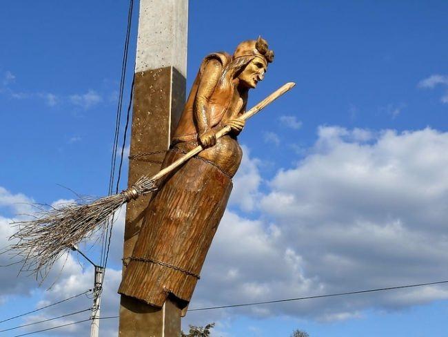 Monument to Baba Yaga in Yoshkar-Ola, Mari El, Russia