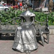 Monument to Lyubasha, wife of the Omsk Governor-General G. Kh. Gasford in Omsk, Russia